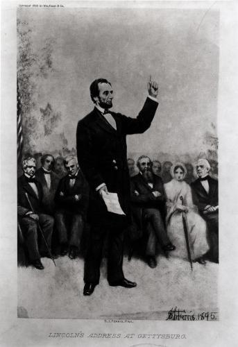 Lincoln's Address at Gettysburg, 1895 by Stephen James Ferris