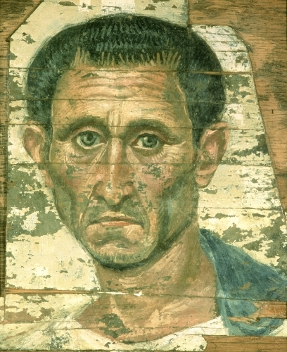 Portrait of a man in a blue cloak, Trajanic by Anonymous