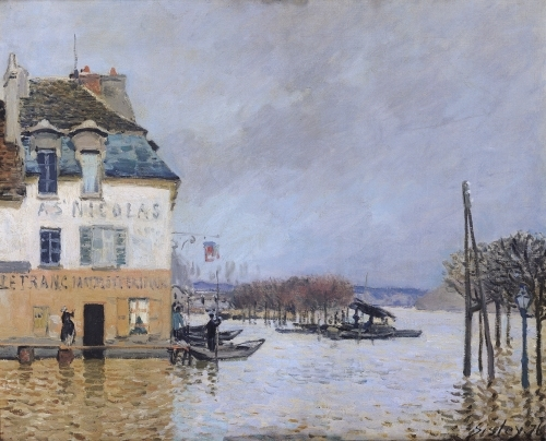 the flood at port marly 1876 print by alfred sisley at king mcgaw