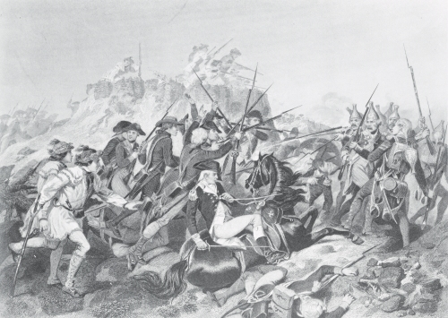 Battle of Saratoga - General Arnold Wounded by American School