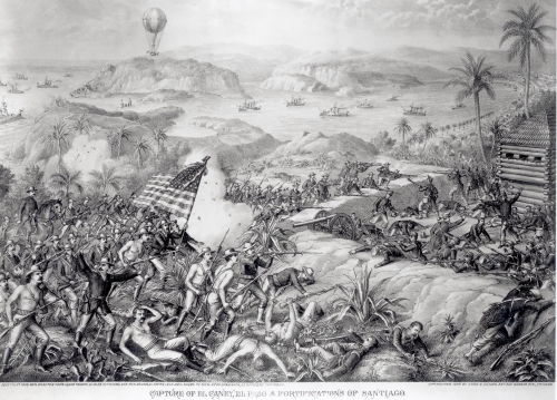The Capture of El Caney, July 1898 by American School