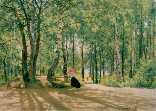 At the Summer Cottage, 1894 by Ivan Ivanovich Shishkin