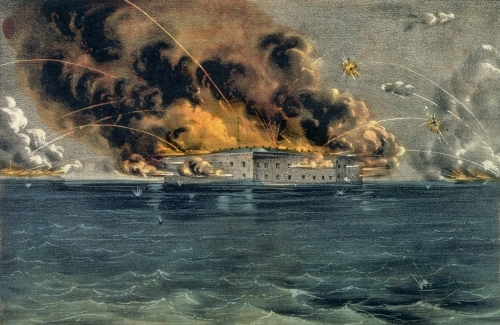 Bombardment of Fort Sumter, Charleston Harbour by American School