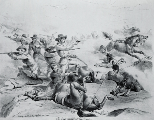 The Last Battle of General Custer, 25th June 1876 by American School