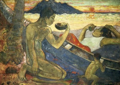 A Canoe (Tahitian Family), 1896 by Paul Gauguin