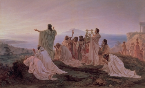 Pythagoreans' Hymn to the Rising Sun, 1869 by Fedor Andreevich Bronnikov