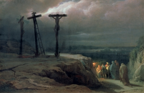Night at Golgotha, 1869 by Vasili Vasilievich Vereshchagin