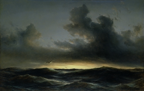Marine Solitude, 1852 by Anton Melbye