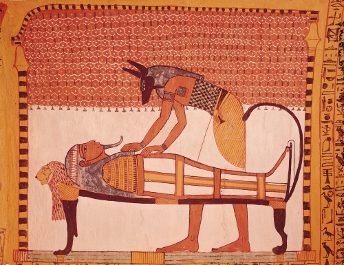 Anubis attends Sennedjem's Mummy by Egyptian Art