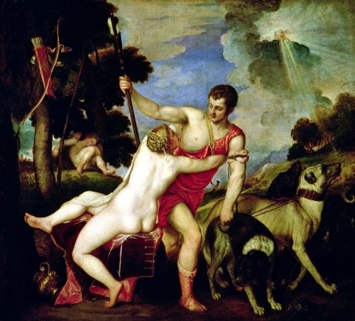 Venus and Adonis, 1553 by Titian