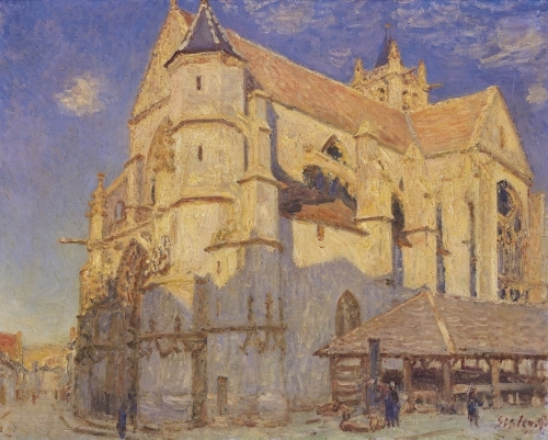 The Church at Moret, Frosty Weather, 1893 by Alfred Sisley