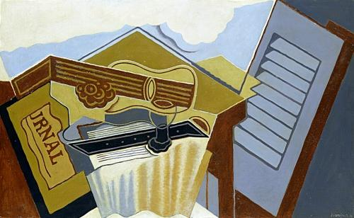 Still Life with a White Cloud by Juan Gris