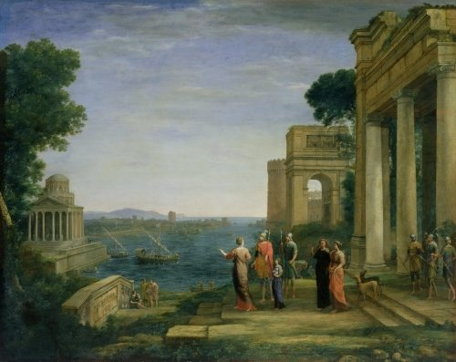 Aeneas and Dido in Carthage, 1675 by Claude Lorraine