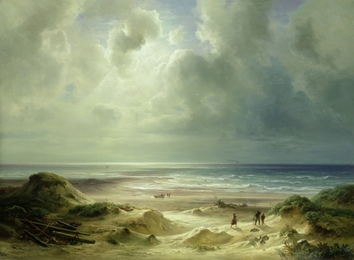 Dune by Hegoland, Tranquil Sea by Carl Morgenstern