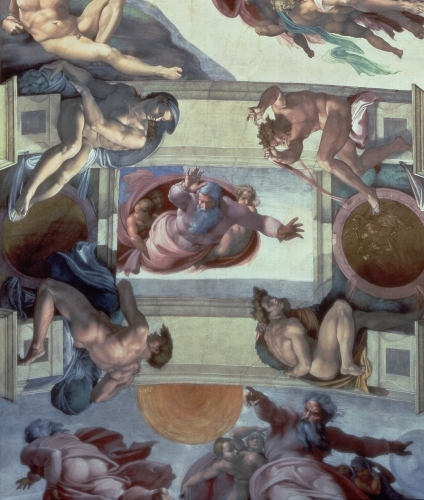 The Separation of the Waters from the Earth, 1511 by Michelangelo