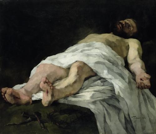 Christ taken down from the Cross, 1874 by Wilhelm Trubner