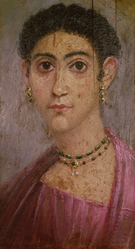 Portrait panel from the coffin of a woman, 2nd century AD by Egyptian Art