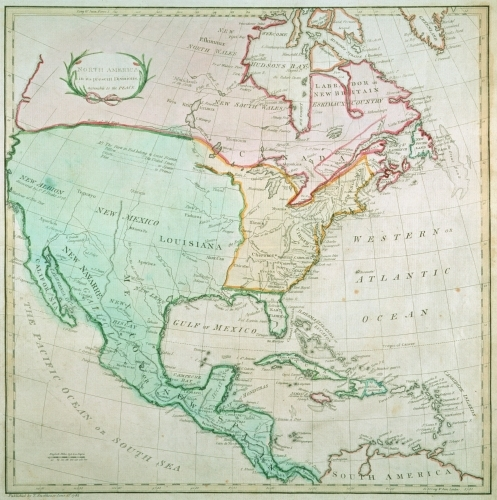 Map of North America, 1783 by English or French School