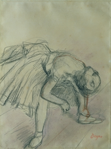 Dancer Fixing her Slipper by Edgar Degas