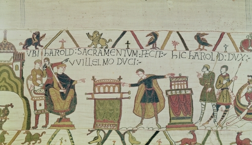Harold Swears an Oath from The Bayeux Tapestry by English or French School