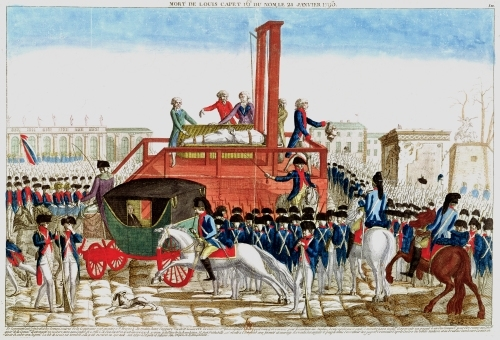 Execution of Louis XVI, 1793 by English or French School