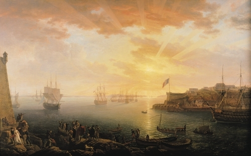 View of Brest Harbour, 1796 by Jean-Francois Hue