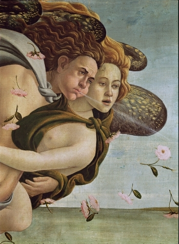 Zephyr and Chloris, detail from The Birth of Venus by Sandro Botticelli