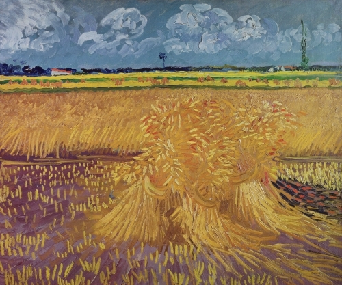 Wheatfield with Sheaves, 1888 by Vincent Van Gogh