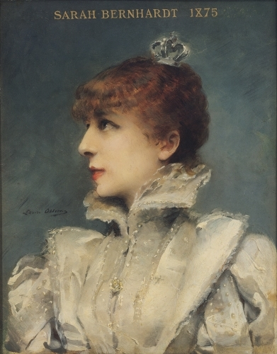Sarah Bernhardt, 1875 by Louise Abbema