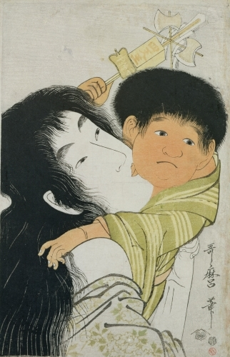 Yama-Uba and Kintoki by Utagawa Kuniyoshi