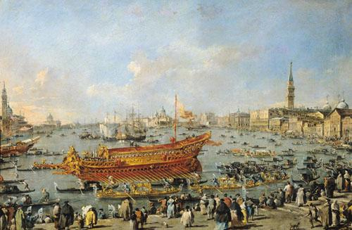 The Departure of the Bucentaur 1766 by Francesco Guardi