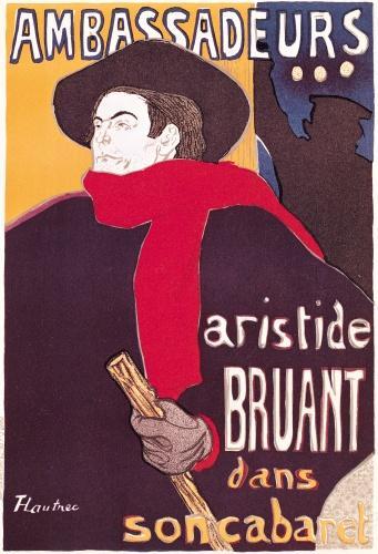 Ambassadeurs Aristide Bruant, 1892 by Henri de Toulouse-Lautrec