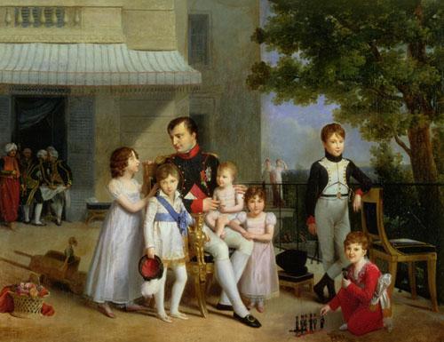 Portrait of Napoleon Bonaparte & family, 1810 by Louis Ducis