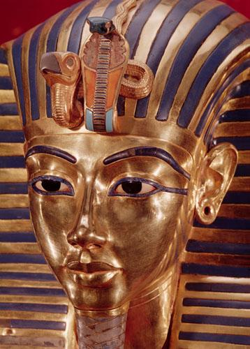 The gold mask, from the Treasure of Tutankhamun c.1340 by Egyptian Art
