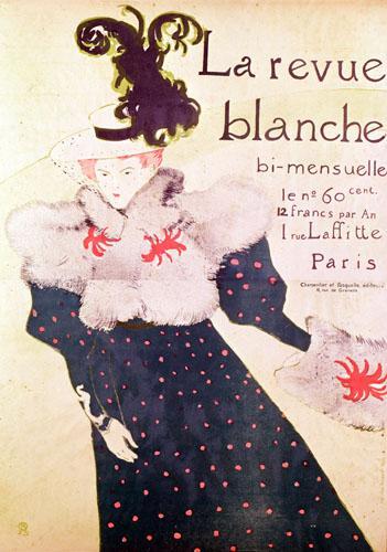 Poster advertising 'La Revue Blanche', 1895 by Henri de Toulouse-Lautrec