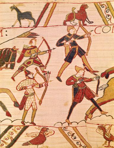 Bayeaux Tapestry - detail V by English or French School