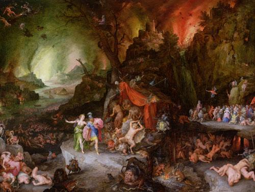 Aeneas and the Sibyl in the Underworld, 1598 by Jan Bruegel The Younger