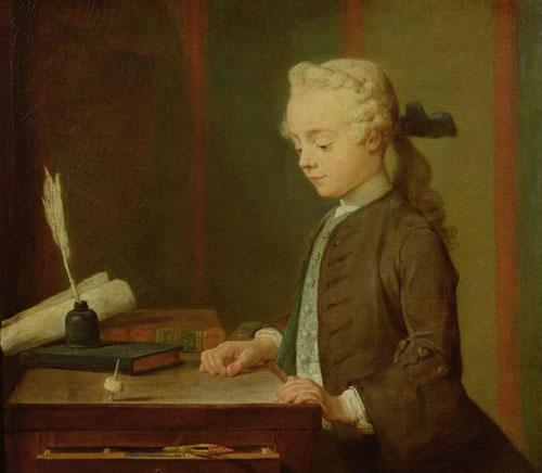 Child with a Teetotum, 1738 by Jean Baptiste Chardin