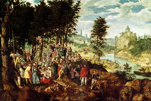 The Sermon of St. John the Baptist, c.1550 by Flemish School