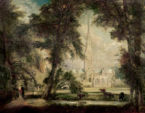 Salisbury Cathedral from the Bishop's Grounds, c.1822 by John Constable