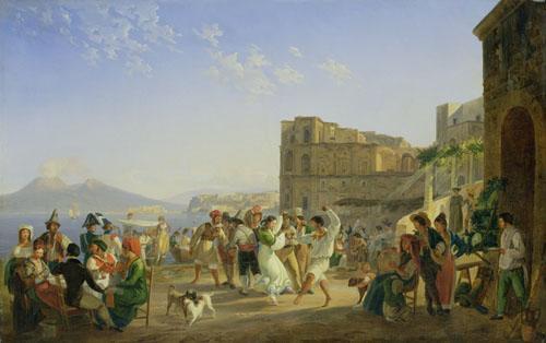 Italian Dancing, Naples, 1836 by Carl Wilhelm Gotzloff