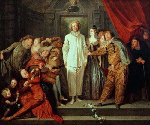 Italian Comedians, c.1720 by Jean Antoine Watteau