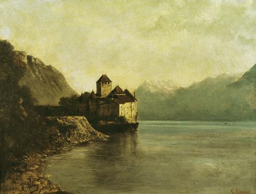 Chateau de Chillon, 1874 by Gustave Courbet