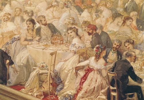 Dinner at the Tuileries, 1867 by Henri Baron