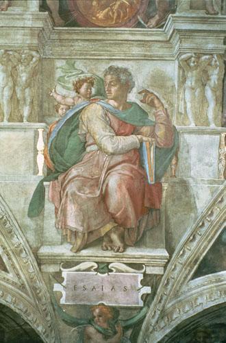 Sistine Chapel Ceiling: The Prophet Isaiah by Michelangelo