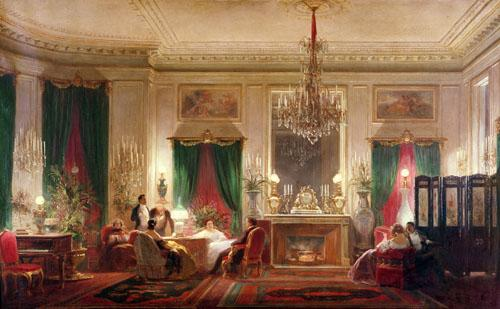 Salon of Princess Mathilde Bonaparte, 1859 by Charles Giraud