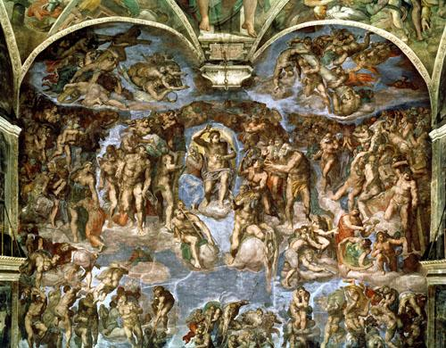 Sistine Chapel: The Last Judgement, 1538 by Michelangelo