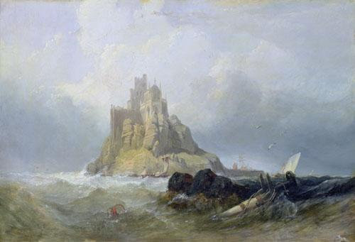St. Michael's Mount, Cornwall by William Clarkson Stanfield