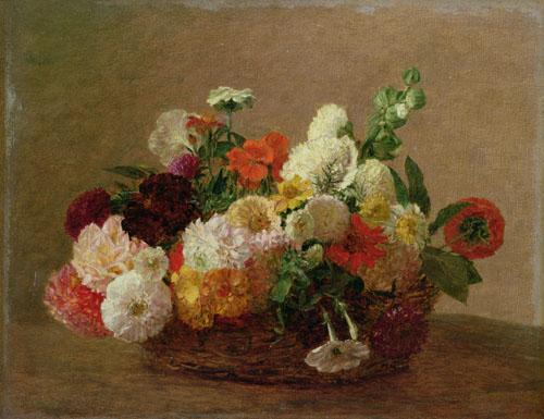 Flower Still Life by Ignace-Henri-Théodore Fantin-Latour