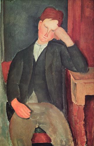 The Young Apprentice, c.1917 by Amedeo Modigliani